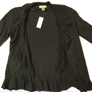 Ann Taylor Loft NWT Ruffle Sweater Cardigan Med